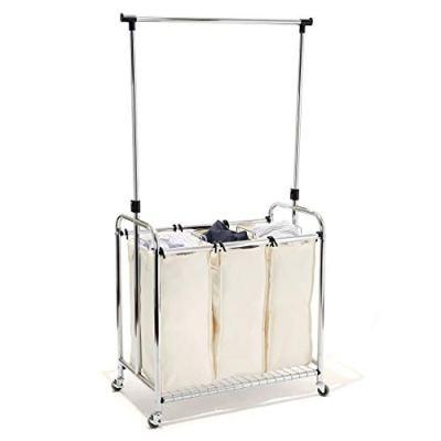 Laundry Hamper Sorter with Clothes Rack Bag Cart