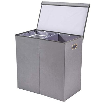 Laundry Hamper/Sorter with Removable Liners & Magnetic Lid