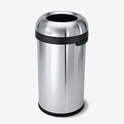 simplehuman 60 Liter / 16 Gallon Bullet Open Top Trash Can