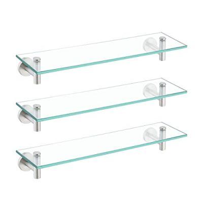 KES Glass Shelf for Bathroom Rectangular, 20-Inch Floating Shelves
