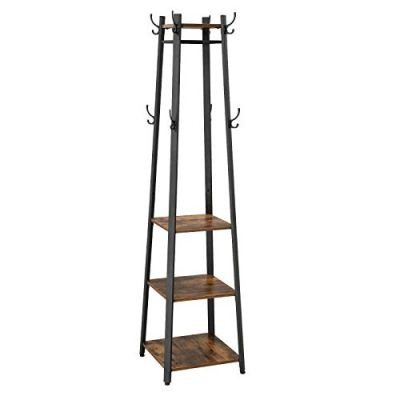 VASAGLE Coat Rack, Coat Stand with 3 Shelves