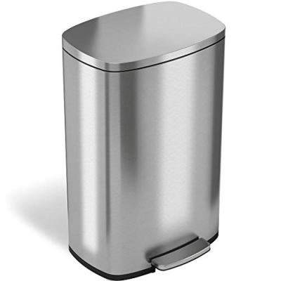 iTouchless SoftStep 13.2 Gallon Step Trash Can