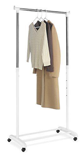 Whitmor Rolling Adjustable Garment Rack