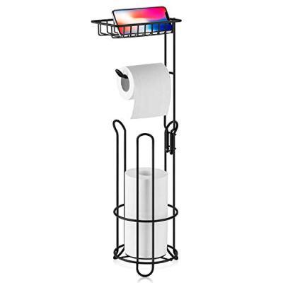 XEEX Toilet Paper Holder Stand, Free Standing Toilet Tissue Holder
