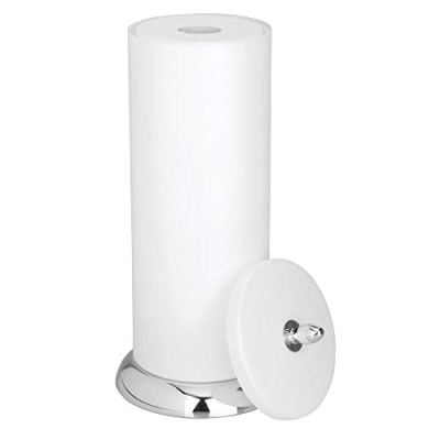 Holder Canister with Storage for 3 Extra Rolls of Toilet Tissue