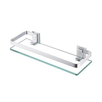 KES Aluminum Bathroom Glass Shelf Tempered Glass Rectangular