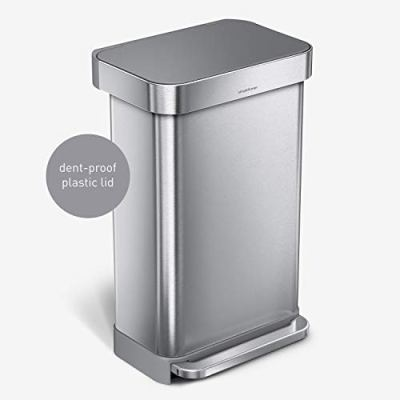 Hands-Free Kitchen Step Trash Can with Soft-Close
