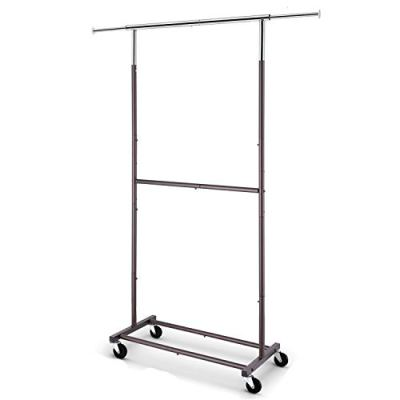 Rolling Clothes Organizer on Wheels for Hanging Clothes