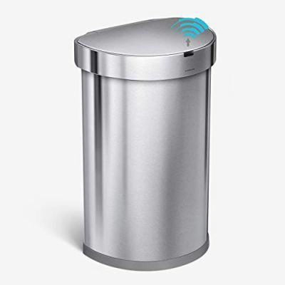 simplehuman 45 Liter Semi-Round Automatic Sensor Trash Can