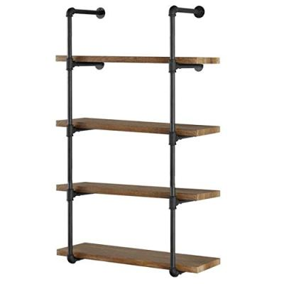 Industrial Wall Mount Iron Pipe Shelf