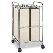 Simple Trending 2-Bag Laundry Hamper Sorter Cart