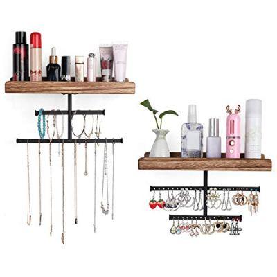 Bikoney Jewelry Organizer Wall Hanger Storage