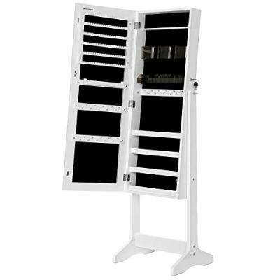 Lockable Storage Organizer Unit with 2 Plastic Cosmetic Storage