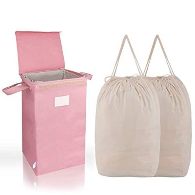 MCleanPin Laundry Hamper with Lid and 2 Removable Liners