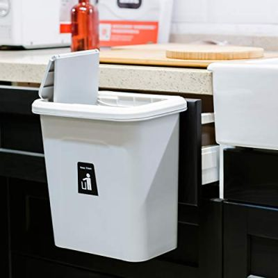 KARYHOME Hanging Trash Can for Kitchen Cabinet and Office