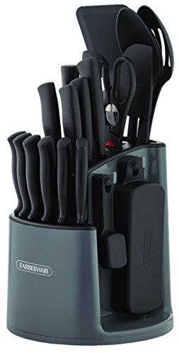30-Piece Spin-and-Store Knife and Kitchen Tool Set