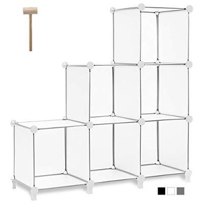 TomCare Cube Storage 6-Cube Bookshelf Closet Organizer
