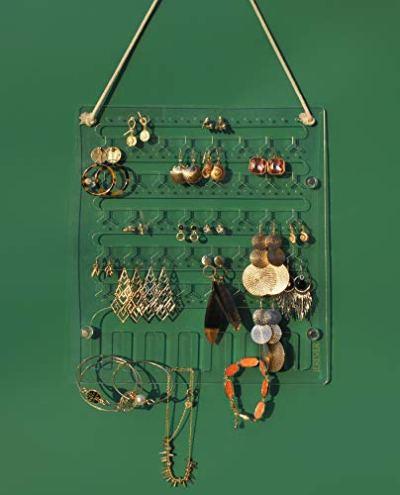 Wall Hanging Jewelry Organizer Acrylic Display Rack