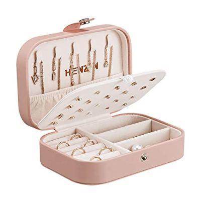 Jewelry Box Organiser Small Travel PU Leather