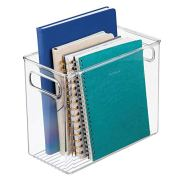 mDesign Plastic Home, Office Storage Organizer Bin with Handles