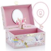 Kids Musical Jewelry Box for Girls and Jewelry Set