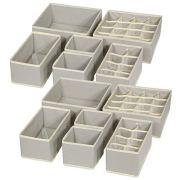 TENABORT 12 Pack Foldable Drawer Organizer Dividers