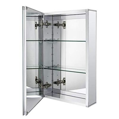 Medicine Cabinet with Framless Double Sided Mirror Door