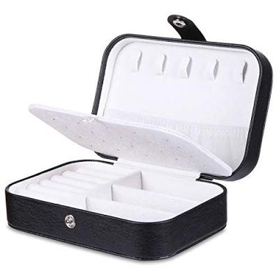 misaya Travel Jewelry Case Box Women PU Leather