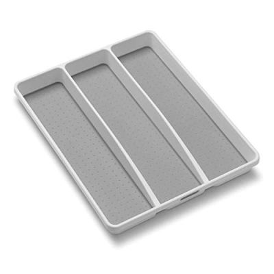 Classic Utensil Tray - White Soft-grip Lining and Non-slip Rubber Feet