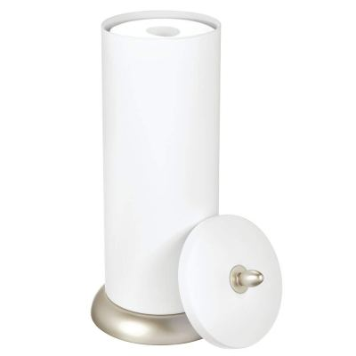 Toilet Paper Holder Canister for 3 Extra Rolls of Toilet Tissue