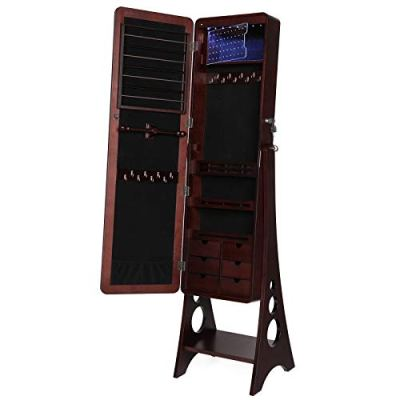 SONGMICS 8 LEDs Jewelry Cabinet Armoire