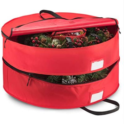 Protect Artificial Wreaths Holiday Xmas Bag Made of Tear Proof