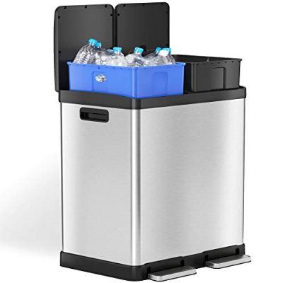 Gallon Dual Step Trash Can & Recycle Bin