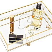 CHICHIC Gold Mirror Tray Jewelry Organizer Vanity Tray Jewelry