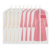 KEEGH Clear Garment Bags Long Dress Jacket Cover