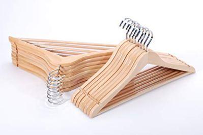 TOPIA HANGER Extra Strong Wooden Suit Hangers