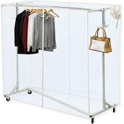 Industrial Grade Z-Base Garment Rack,