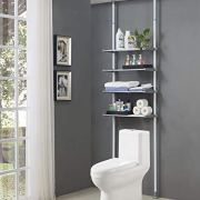 Over The Toilet Storage Rack Easy to Assemble, Height and Width Adjustable