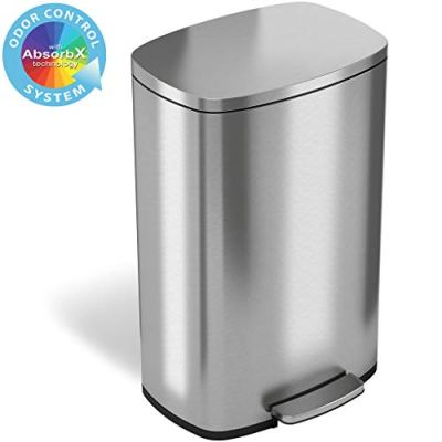 Step Trash Can with Odor Control System 50 Liter