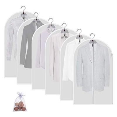 allhom dust Proof Garment Bags - Set of 6 pcs 40 inch