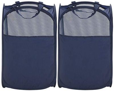 Foldable Laundry Hamper Pop-Up Mesh Clothes Hamper