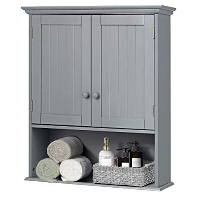 Hanging Storage Cabinet with Open Shelf