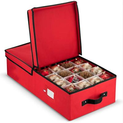 Underbed Christmas Ornament Storage Box With Lide