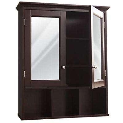 MUPATER Bathroom Medicine Cabinet Wall Mounted Storage Organizer