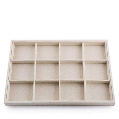 Oirlv Stackable 12 Girds Jewelry Trays, Jewelry Storage