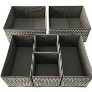 Sodynee Foldable Cloth Storage Box Closet, Dresser Drawer Organizer