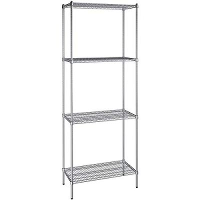 18 inch x 36 inch Chrome Wire 4 Shelf Kit