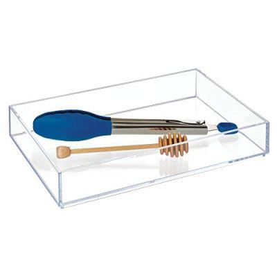 iDesign Clarity Plastic Drawer Organizer, Storage Container for Vanity