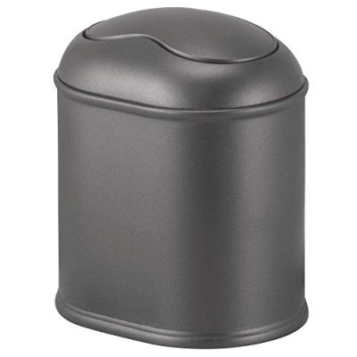 Mini Wastebasket Trash Can Dispenser with Swing Lid