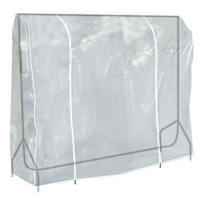 HANGERWORLD Clear 6ft Showerproof Zip Clothes